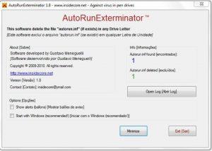 eliminar virus de acceso directo con AutoRunExterminator