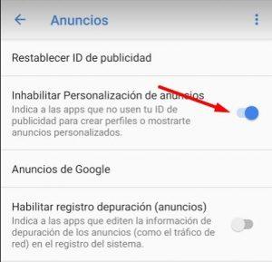 quitar publicidad android aceptar