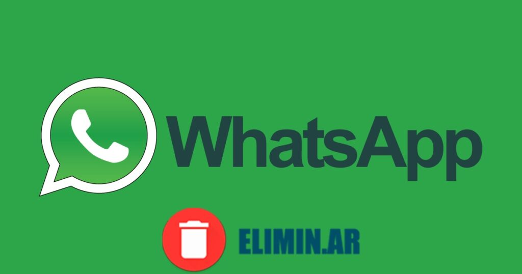 eliminar whatsapp