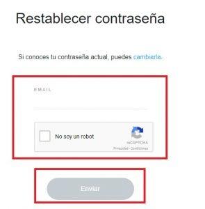 restablecer contraseña de snapchat